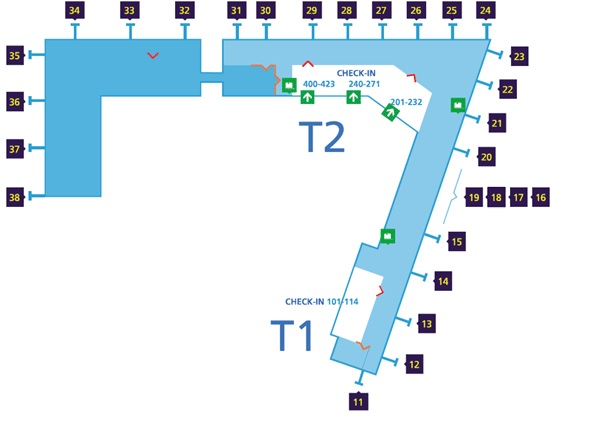 Mappa Aeroporto di Helsinki