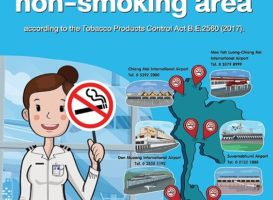 In sei aeroporti thailandesi il fumo è vietato