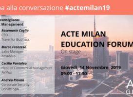 Gli esperti consigliano: Travel Risk Management. Milano, 14 novembre 2019