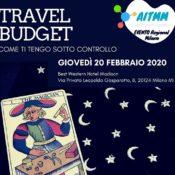 Travel Budget, come ti tengo sotto controllo? Ne parliamo a Milano il 20 febbraio
