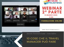 Webinar: le 10 cose che il Travel Mobility Manager può fare – 2° parte