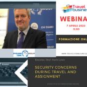 7 e 8 aprile Webinar – Viaggiare sicuri e consapevoli: business travel – security awareness