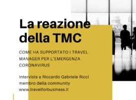 Come le TMC hanno supportato i Travel Manager per l'emergenza Coronavirus