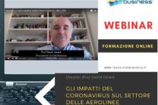 Webinar: gli impatti del Coronavirus sul settore delle aerolinee