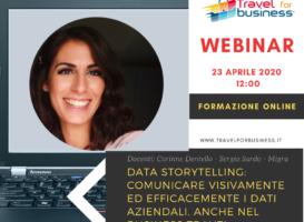 Webinar: Data Storytelling: comunicare visivamente ed efficacemente i dati aziendali, anche nel Business Travel