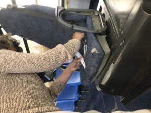 sedile accompagnatore  scuolabus
