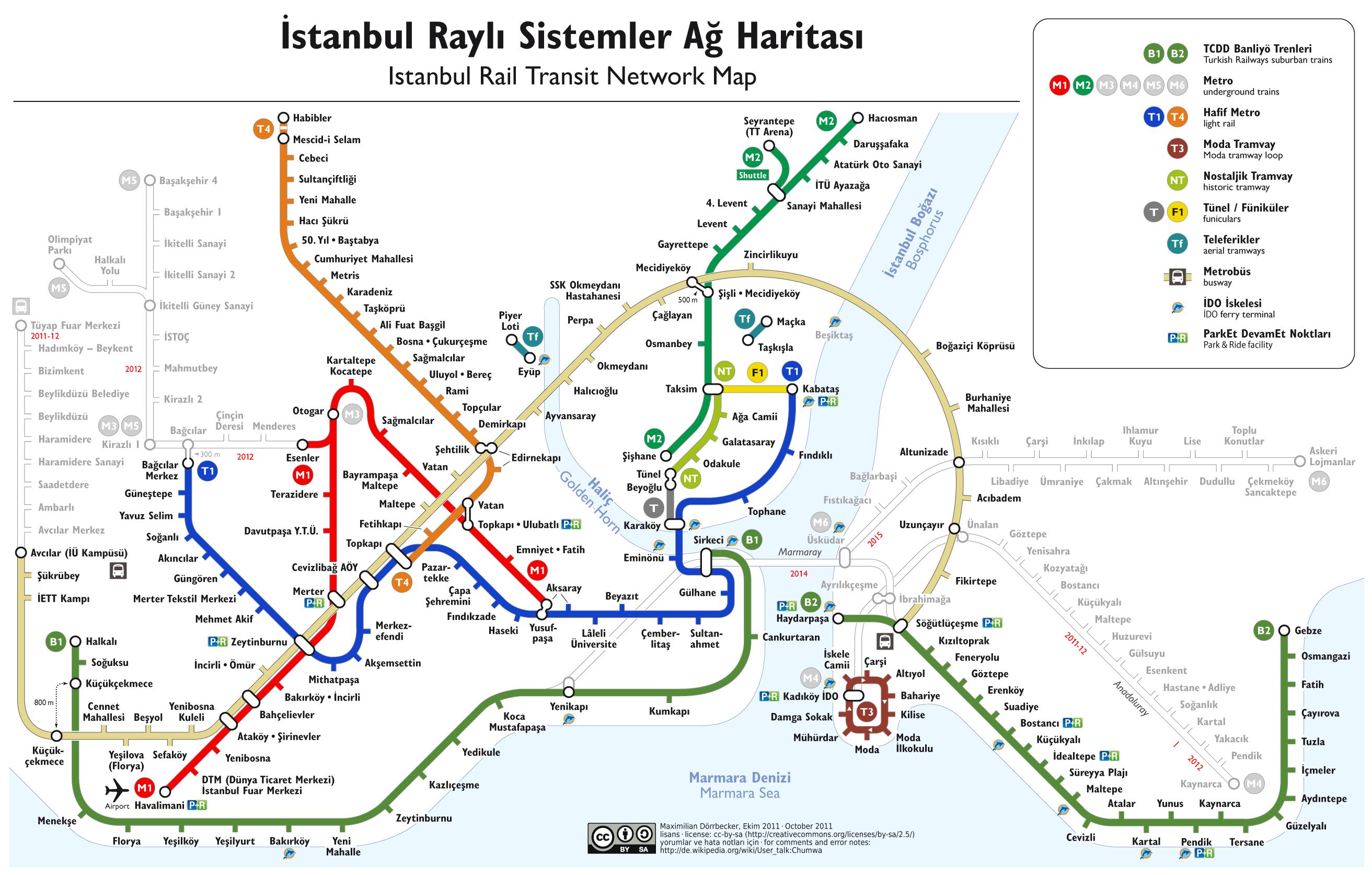 Come muoversi a Istanbul: mappa dei traporti pubblici